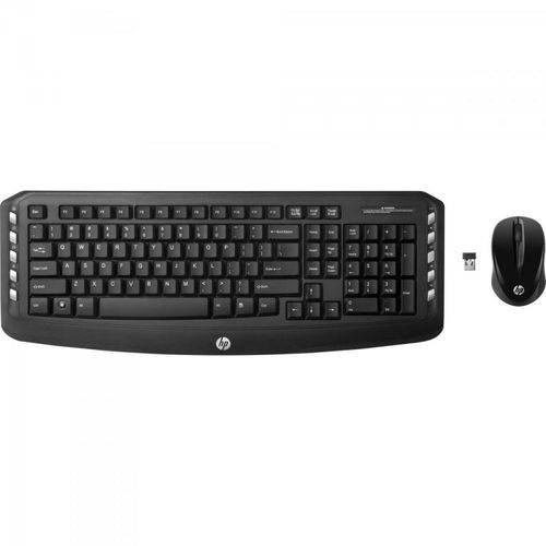 Kit Teclado + Mouse Wireless Lv290 Preto Hp