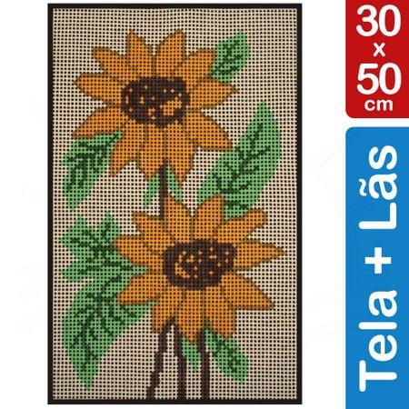 Kit Tela para Bordar 30x50 - 3803 Girassol