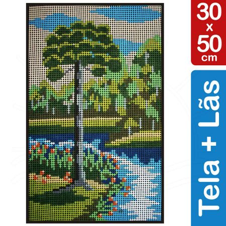 Kit Tela para Bordar 30x50 - 3808 Paisagem