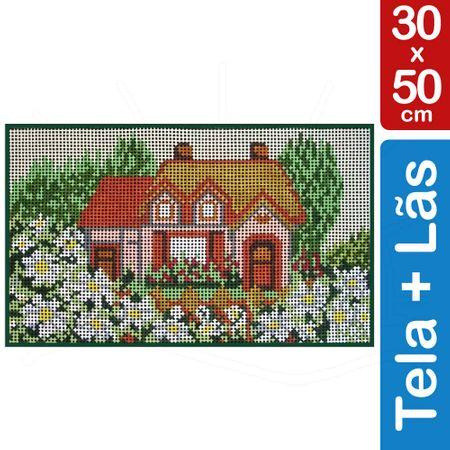 Kit Tela para Bordar 30x50 - 3809 Casa