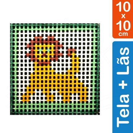 Kit Tela para Bordar 10x10 - 3102 Leão