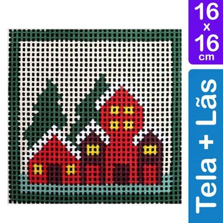 Kit Tela para Bordar 16x16 - 3205 Casas