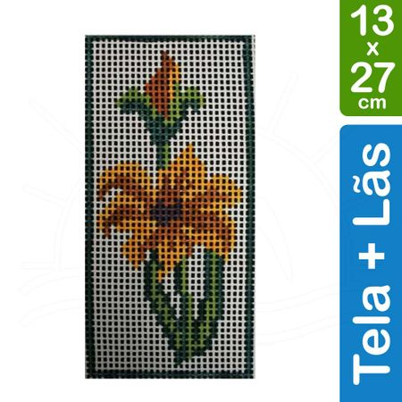 Kit Tela para Bordar 13x27 - 3304 Orquídea