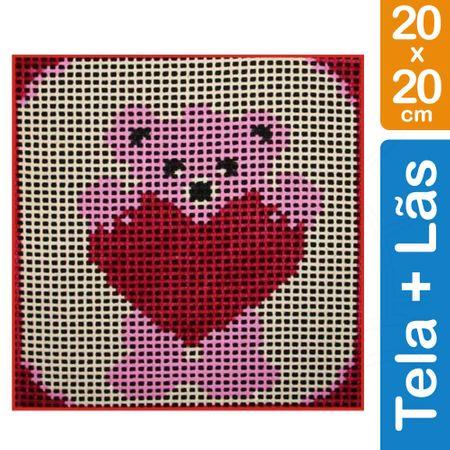 Kit Tela para Bordar Iniciante - 016 Urso Coração