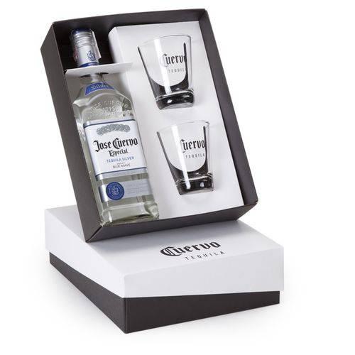 Kit Tequila José Cuervo 750ml + 2 Copos
