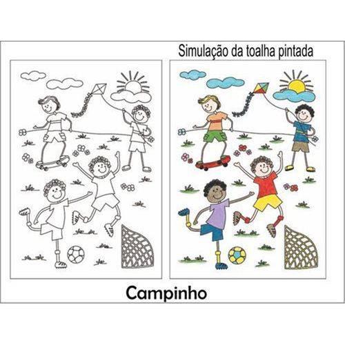 Kit Toalha Infantil para Colorir Campinho Buettner