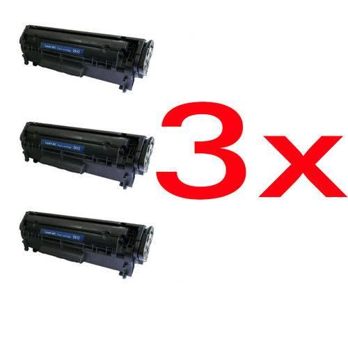 Kit 3 Toner 2612a 12a P/ 1010 1015 1018 1020 1022 M1005