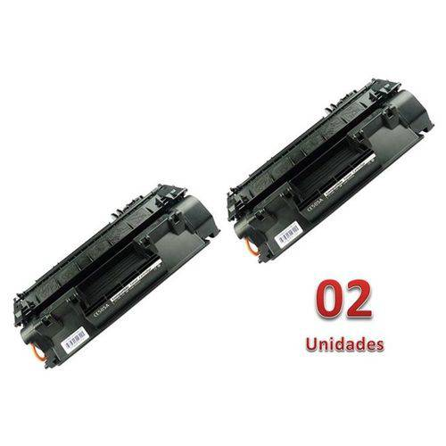 Kit 2 Toner Similares HP 80A CF280A Compativel HP LaserJet Pro 400 M401 M401a M401n M401dn M401dw M425 M425dn M425dw MFP (CF286A)