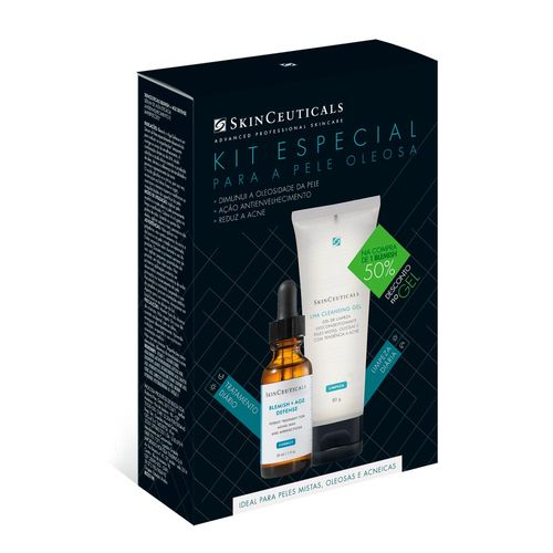 Kit Tratamento Skinceuticals Blemish Age Defense 30ml + Lha Cleasing Gel 80g