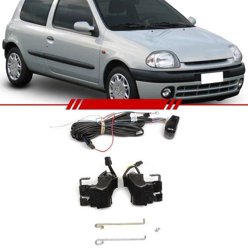 Kit Trava Elétrica Completo Mono Serventia Clio 1999 a 2003 2 Portas
