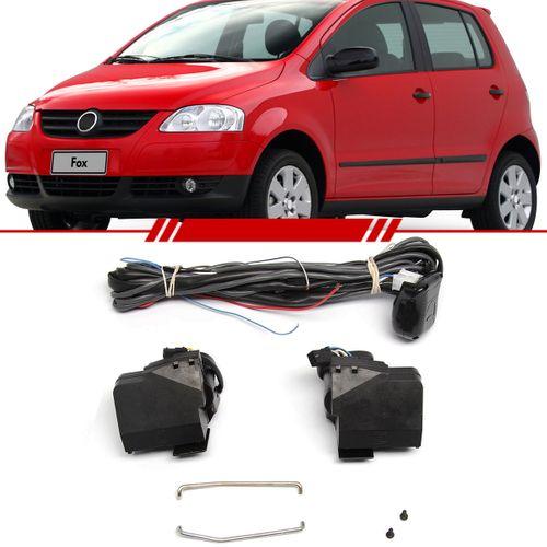 Kit Trava Elétrica Completo Mono Serventia Fox 2003 a 2009 Saveiro Fechadura Valeo