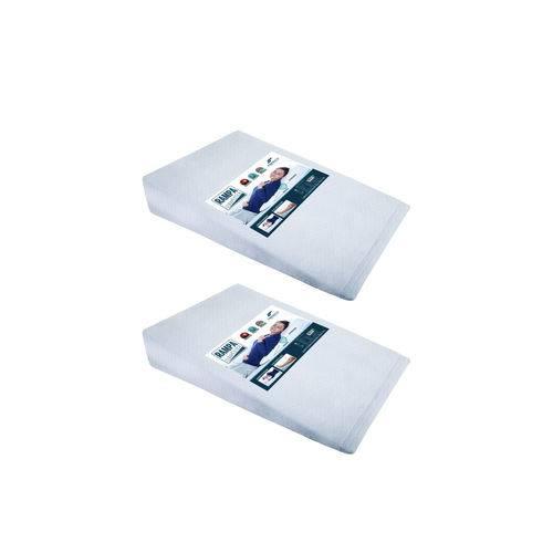 Kit 2 Travesseiro Anti Refluxo Fibrasca Rampa Impermeável Terapêutico 4035