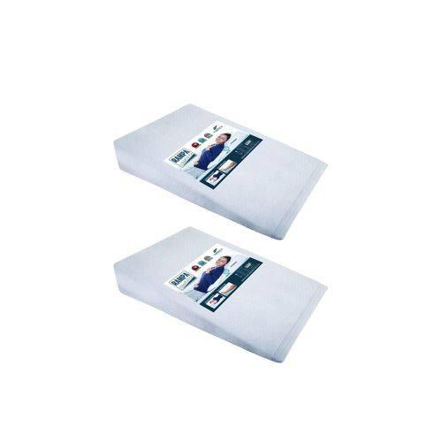 Kit 2 Travesseiros Anti Refluxo Fibrasca Rampa Impermeável Terapêutico Adulto