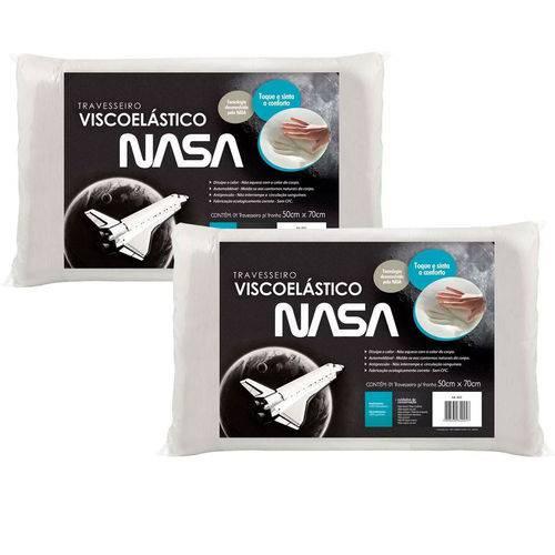Kit 2 Travesseiros NASA Visco P/fronhas 50x70 - Fibrasca