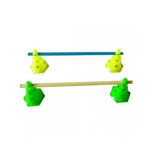 Kit Treinamento 3 Níveis 4 Cones 24cm + 2 Tubos 80cm Futebol