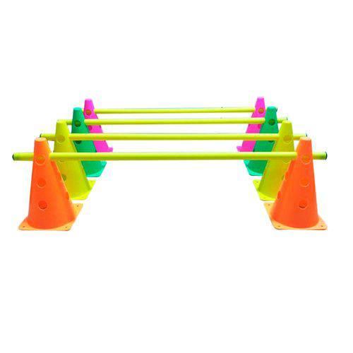 Kit Treinamento 3 Níveis 8 Cones 24cm 4 Tubos Funcional