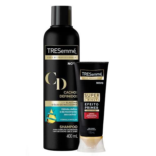 Kit Tresemme Super Condicionador Lisos e Ondulados Efeito Primer 170ml + Shampoo Cachos Definidos 400ml