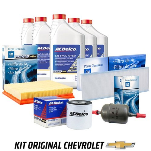 Kit Troca de Óleo 5w30 Semissintético com Todos Filtros Kit508 Corsa Classic /monta