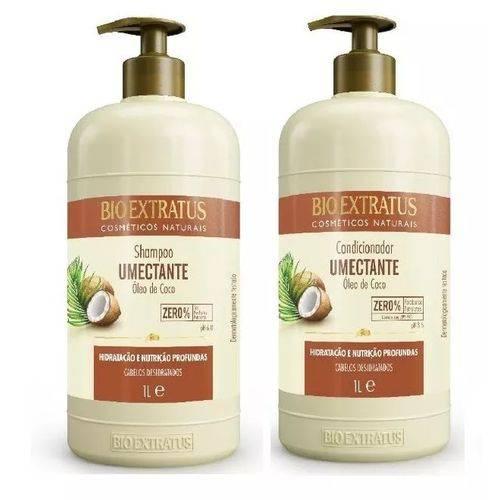 Kit Umectante Óleo de Côco Bio Extratus Shampoo e Condicionador 1 Litro