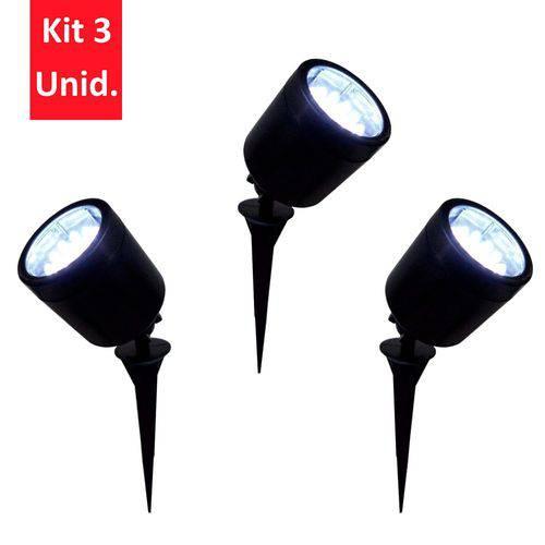 Kit 3 Unid - Espeto de Jardim com 19 LEDs Brancos - DNI 6106