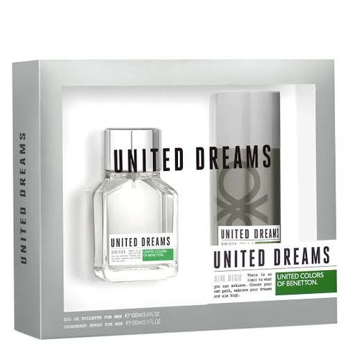 Kit United Dreams Aim High Benetton Eau de Toilette Masculino 100 Ml