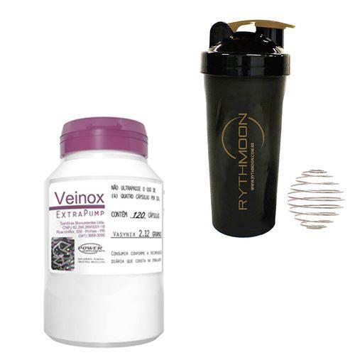 Kit Veinox ExtraPump 120 Caps + Coqueteleira 600ml com Mola