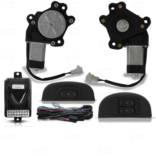 Kit Vidro Elétrico Dianteiro Sensorizado Amarok 2010 2011 2012 2013 2014 Cabine Dupla