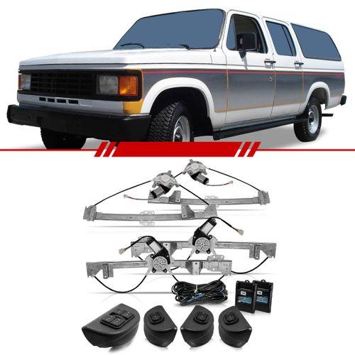 Kit Vidro Elétrico Sensorizado D20 1991 a 1996 Veraneio 4 Portas Completo