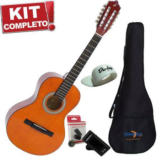 Kit Viola Acústica Vs14 N Natural Giannini Capa Afinador Dedeira