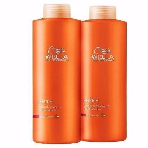 Kit Wella Enrich Shampoo + Condicionador 1 Litro