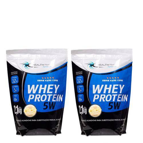 Kit Whey Protein 4,2kg - Health Time - Morango com Banana