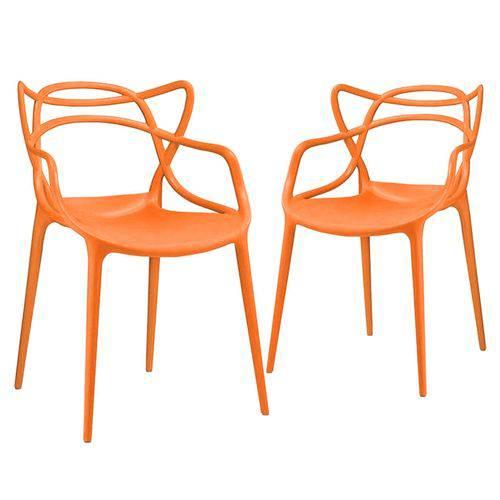 KIT - 2 X Cadeiras Masters Allegra - Laranja
