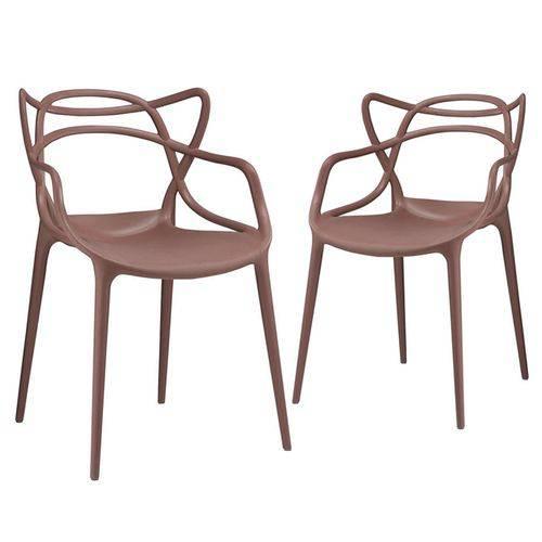 KIT - 2 X Cadeiras Masters Allegra - Marrom