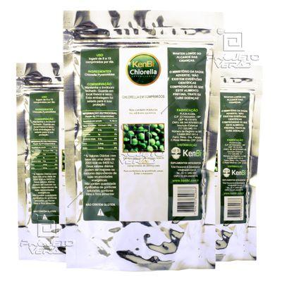Kit 3x Chlorella Kenbi 100% Pura 1200 Comprimidos