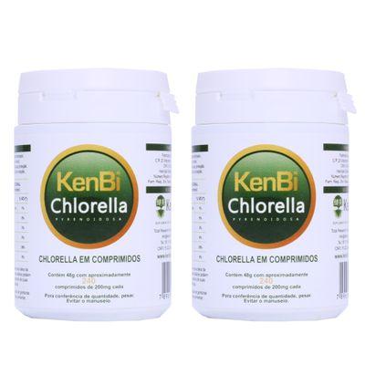 Kit 2x Chlorella Kenbi 100% Pura 240 Comprimidos