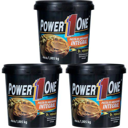 Kit 3 X Pasta de Amendoim 1kg Integral - Power One