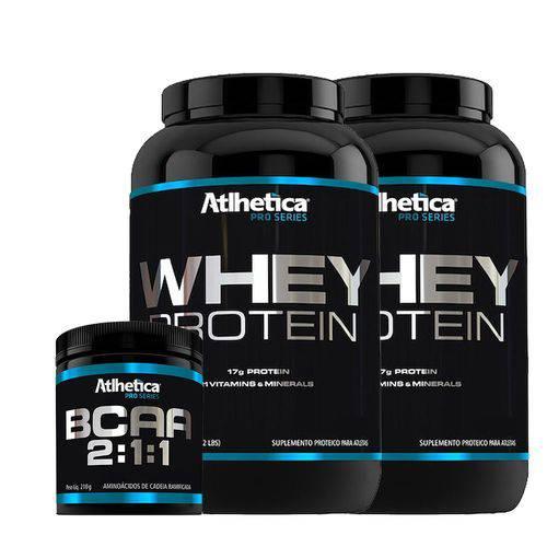 Kit 2x Whey Protein Pro Series - 1kg + 1x Bcaa 2:1:1