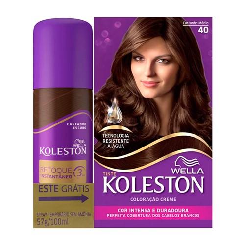 Koleston Retoque Instantâneo Castanho Escuro Spray 100ml Grátis Coloração Castanho Médio