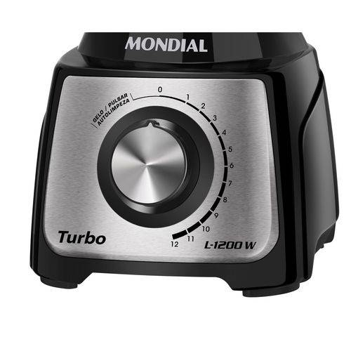L-1200 Bi - Liquidificador Turbo Black Inox