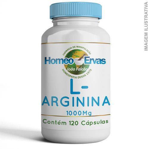 L-arginina 1000mg 120 Cápsulas