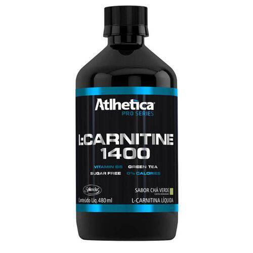 L-Carnitina 1400 (480ml) Atlhetica Nutrition - Chá Verde