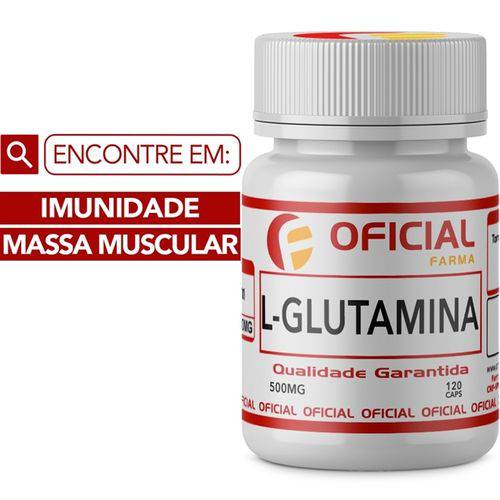 L - Glutamina 500mg 120 Cápsulas
