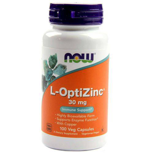 L-optizinc 30mg - 100 Cápsulas - Now Foods