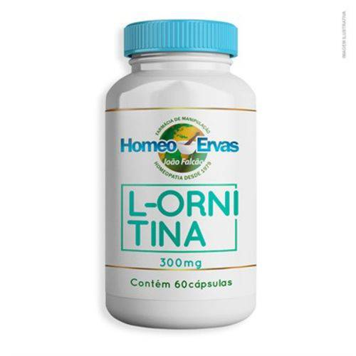 L-ornitina 300mg 60 Cápsulas