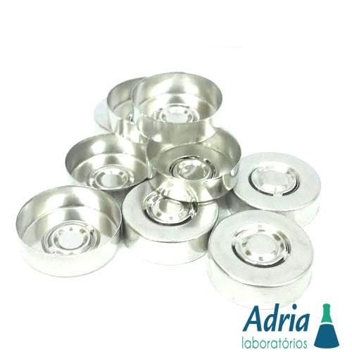 Lacre de Alumínio para Frasco Injetável Tipo Penicilina 20mm C/50 Un C/50un