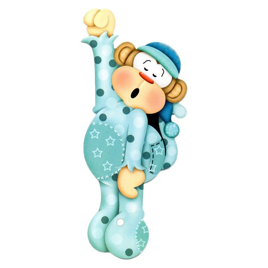 Lális - Bebê Macaco Dorminhoco Azul