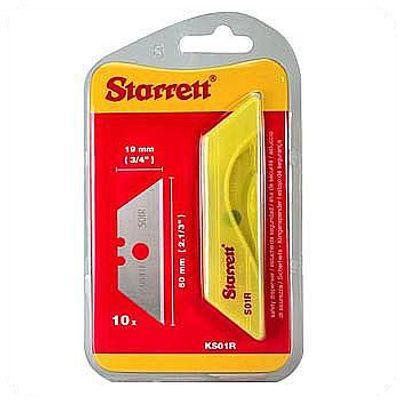 Lamina para Estilete Trapezoidal Starrett KS01R-10 Unidades KS01R