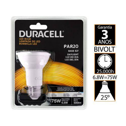 Lâmpada de Led, Duracell Branca Par20 6,8w - Duracell