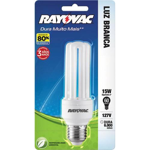 Lâmpada Eletrônica 15W Rayovac Compacta Branca 220V