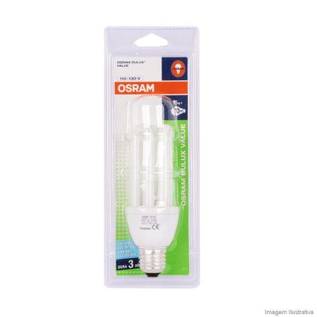 Lâmpada Eletrônica Fluorescente Value 2U 15W 220V Branca Osram